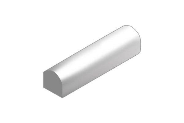 Productafbeelding biggenrug grijs 2x recht